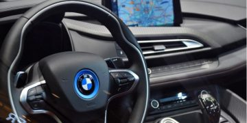 The interior of a BMW